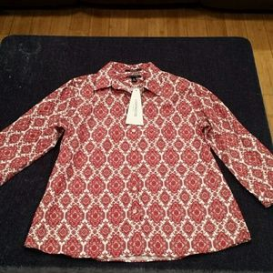 Lands' End long sleeve top size 8